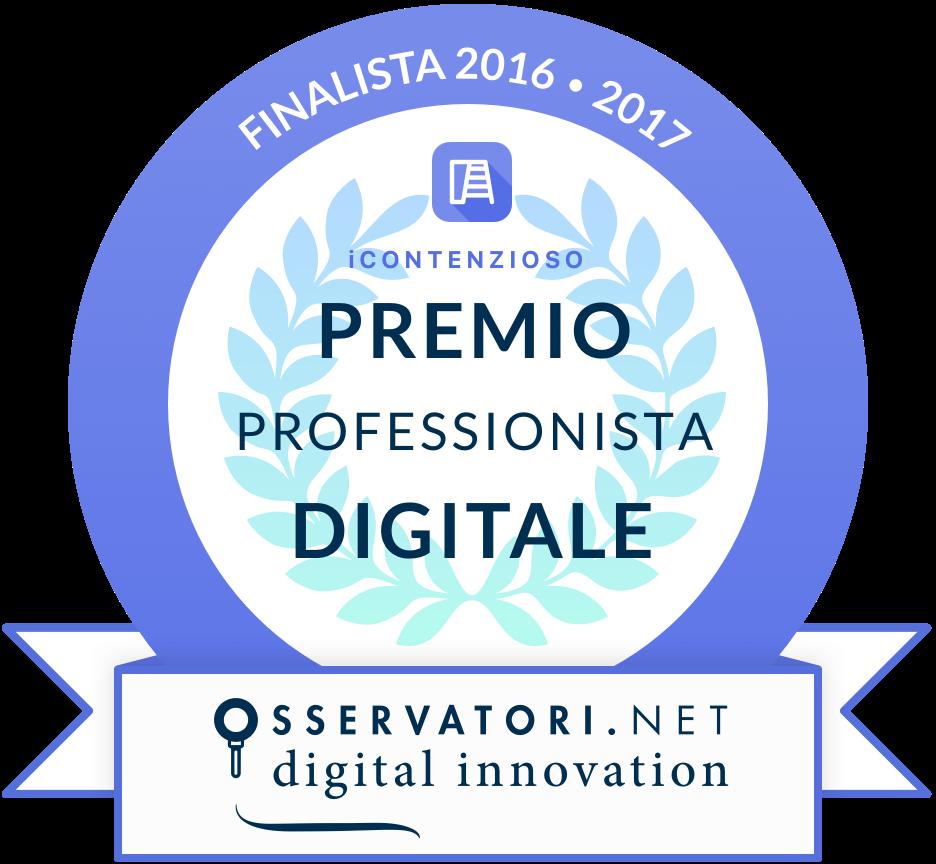 iContenzioso Premio Osservatori Politecnico di Milano