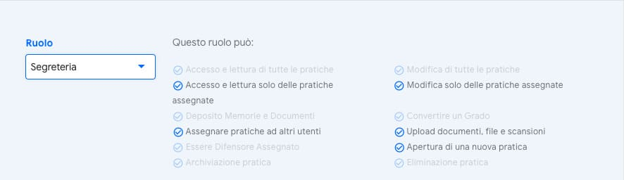utente Segreteria | iContenzioso