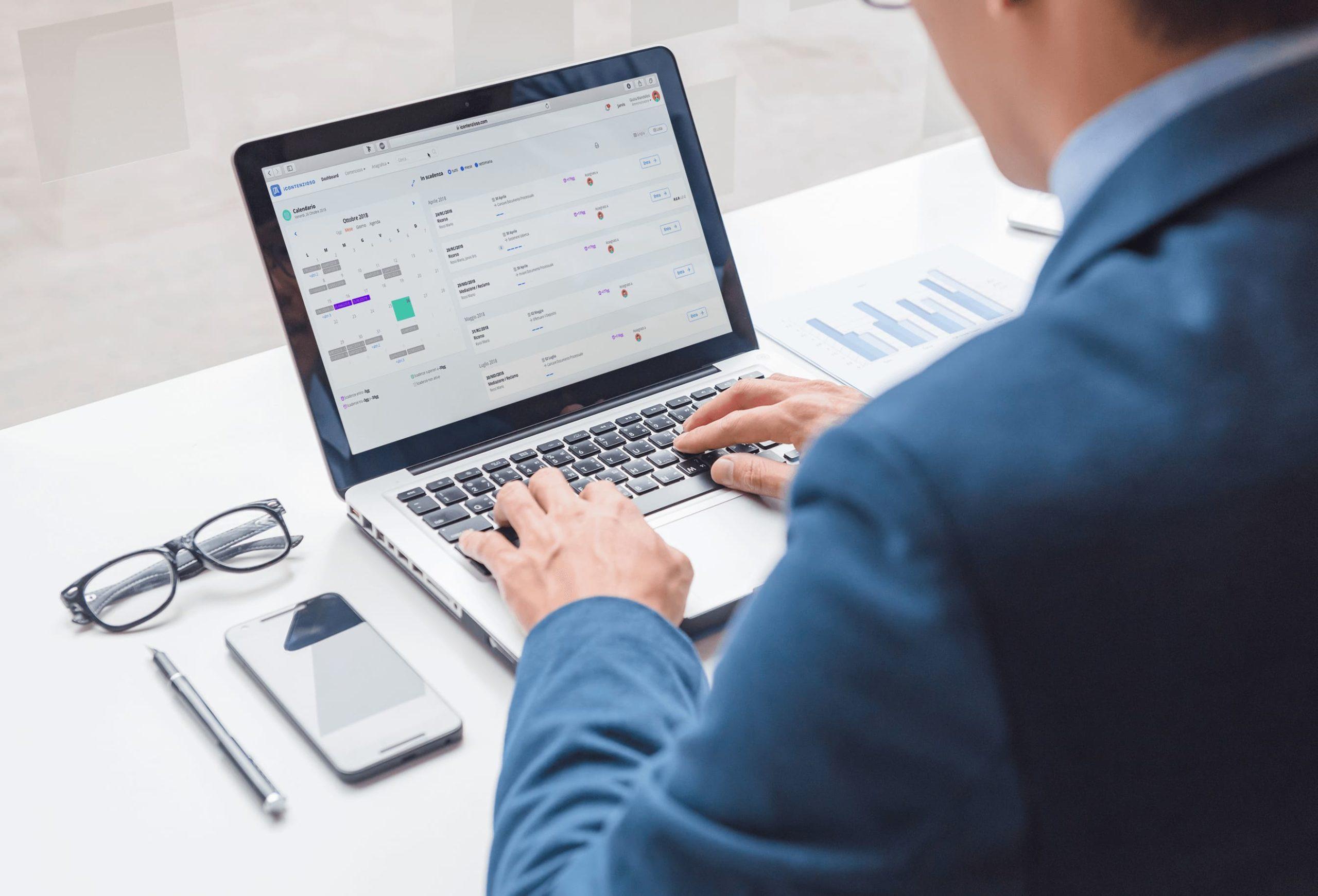 Dashboard gestionale cloud contenzioso tributario - iContenzioso