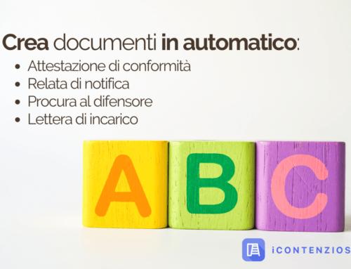 Crea i tuoi documenti in automatico con iContenzioso [GUIDA]