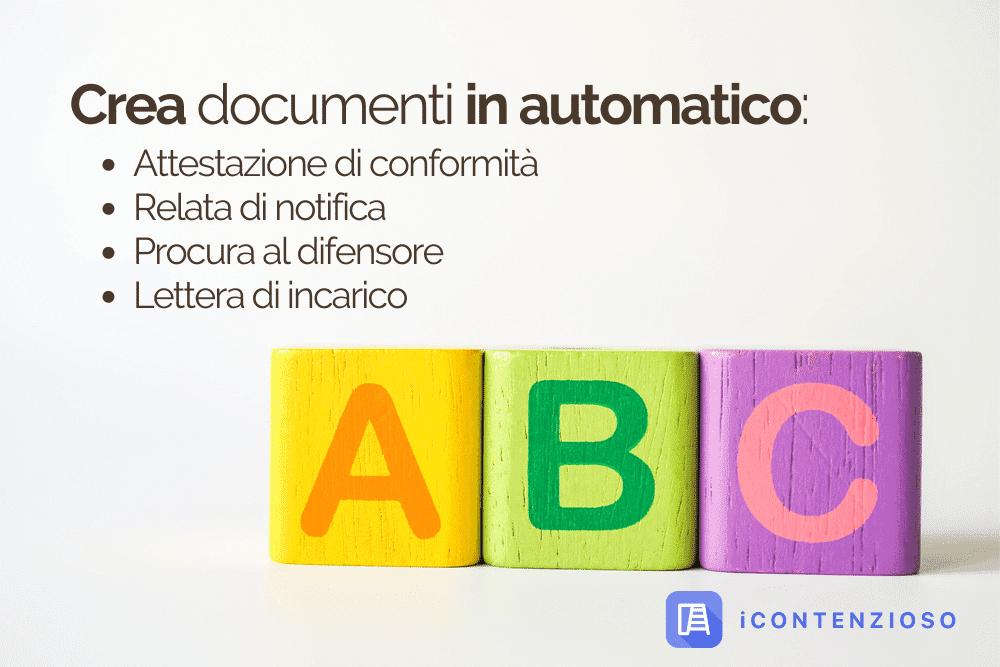 crea documenti in automatico